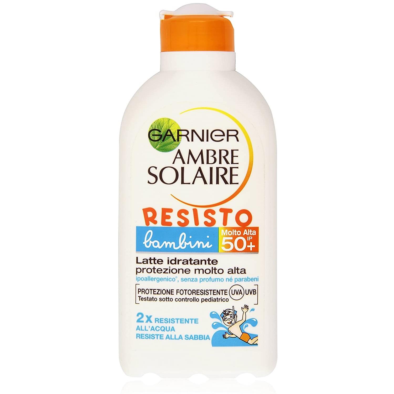 Image of Garnier Ambre Solaire Resisto Latte Solare Protezione Media SPF30 Bambino - 200 ml