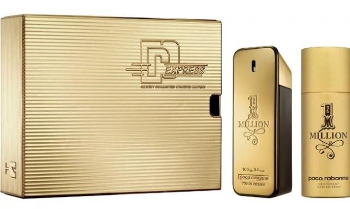 Gift Set Uomo Paco Rabanne 1 Million Eau de Toilette 100 ml + Gel Doccia 100 ml + Profumo da Viaggio 10 ml