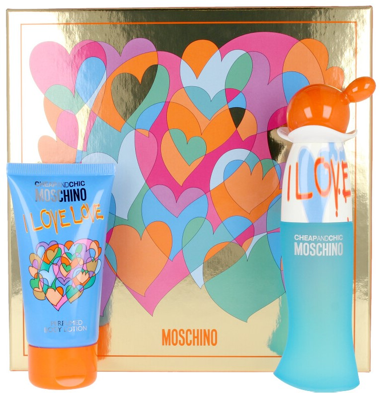 Image of Gift Set Donna Moschino Cheap And Chic I Love Love Eau de Toilette 30 ml + Body Lotion 50 ml