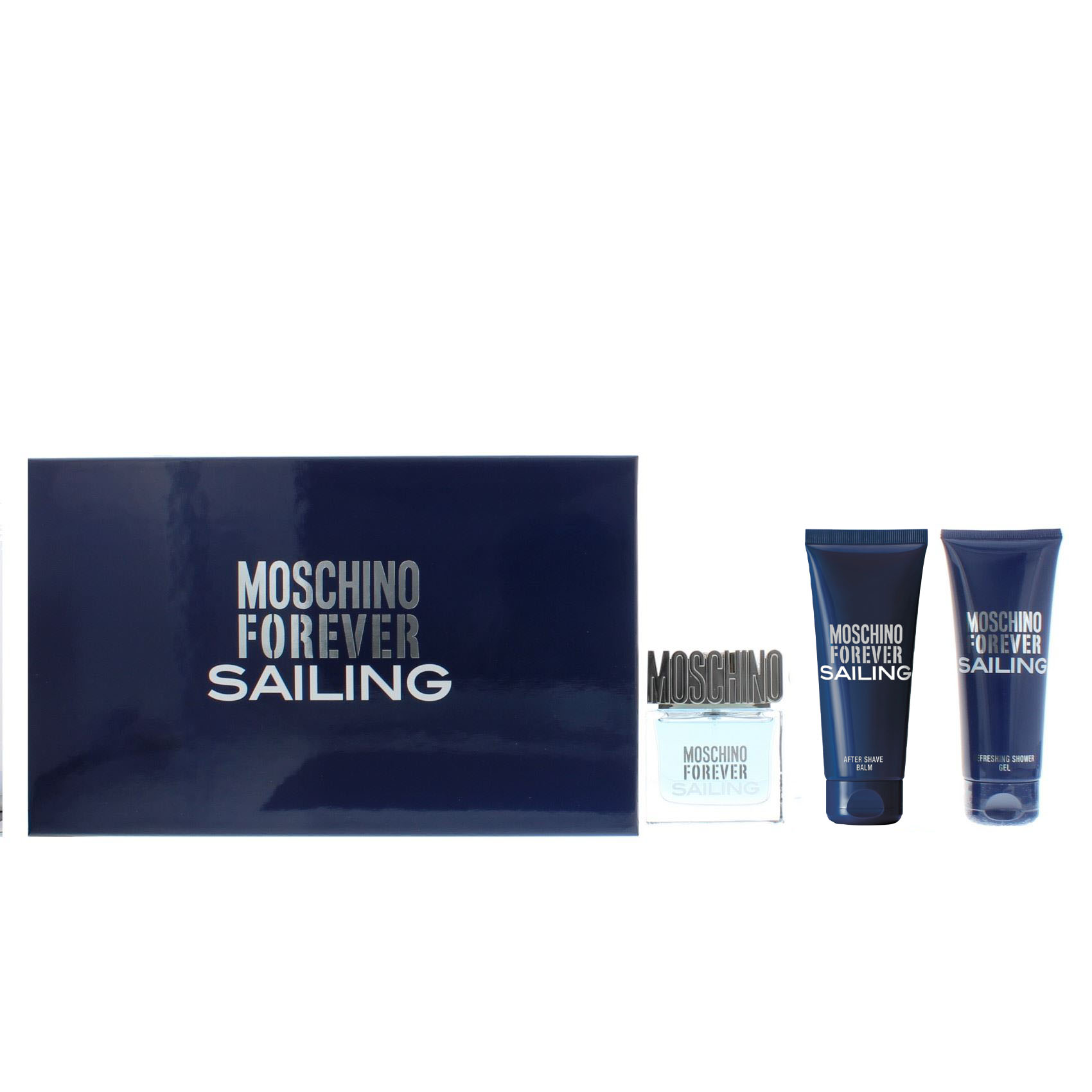 Gift Set Moschino Forever Sailing Kit - Eau de Toilette 50 ml After Shave 100ml Shower Gel 100ml