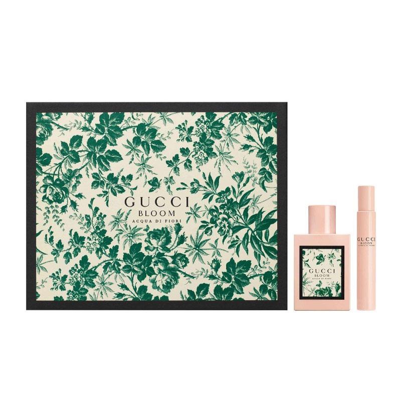 Image of Gift Set Donna Gucci Bloom Acqua Di Fiori Eau de Toilette 50 ml + Roll on 7,4 ml