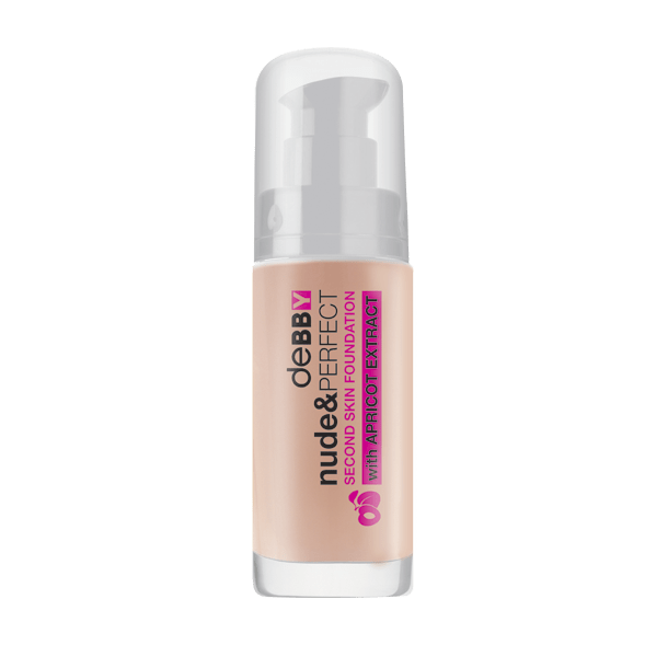 Debby Nude & Perfect Second Skin Foundation - 01 nude