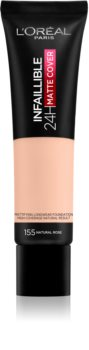 L'Oreal INFAILLIBLE Matte Cover 24H - Fondotinta - 155 Naturel Rosé