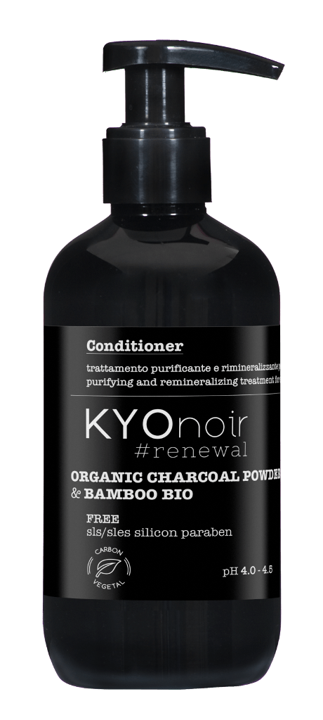 Kyonoir #renewal Organic Charcoal Powder & Bamboo Bio - Conditioner - 250 ml