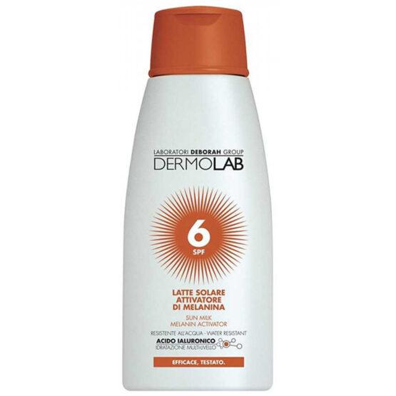Image of Dermolab Latte Solare Attivatore di Melanina Spf 6 - 200 ml